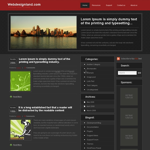 Template Image for Maxi - WordPress Theme