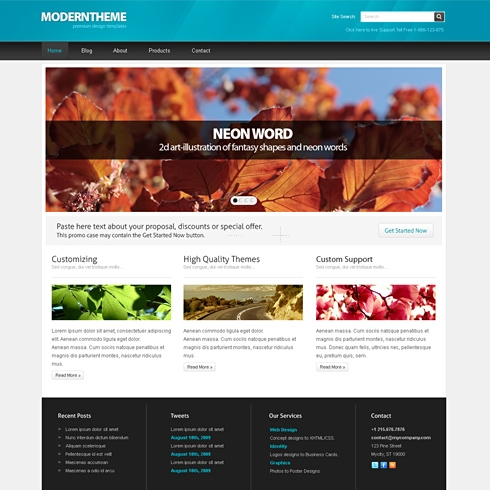 Template Image for ModernPress - WordPress Theme