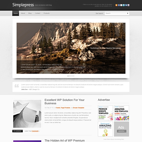 Template Image for SimplePress - WordPress Template