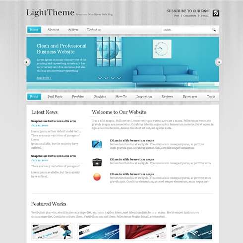 Template Image for LightStroke - WordPress Theme