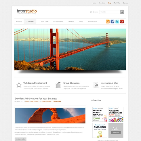 Template Image for InterStudio - WordPress Theme