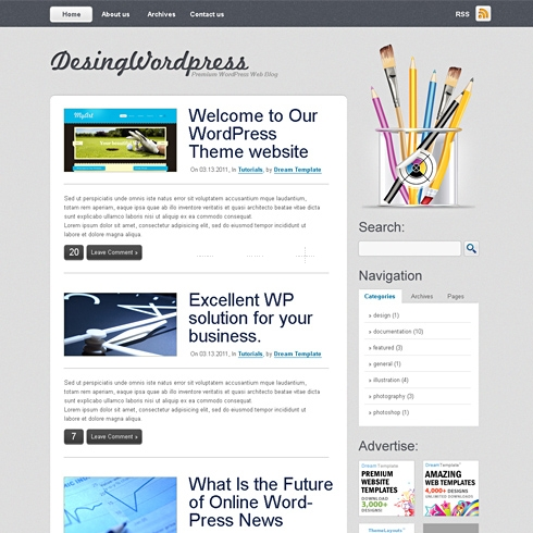 Template Image for DesignPress - WordPress Template