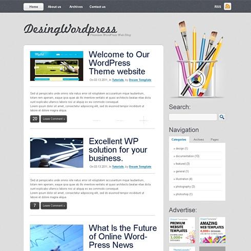 Template Image for DesignPress - WordPress Template