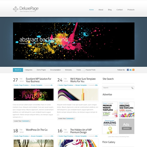 Template Image for Deluxe - WordPress Template