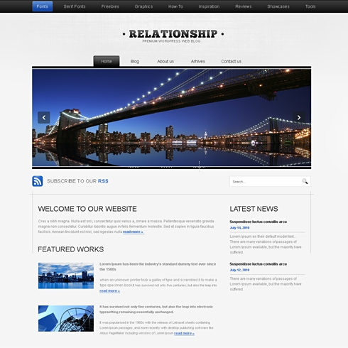 Template Image for Relation - WordPress Template