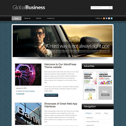 Template Image for GlobalBusiness - WordPress Template