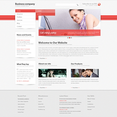 Template Image for Attention - Website Template