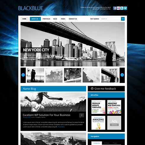Template Image for BlackBlue - HTML Template