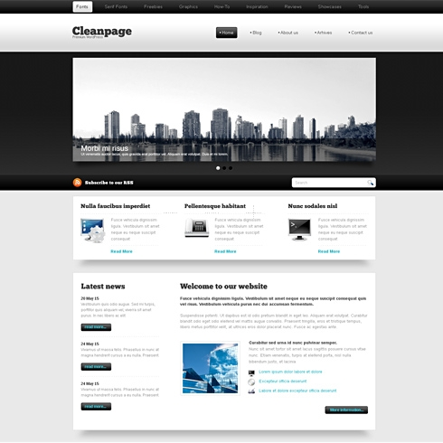 Template Image for BlackWhite - HTML Template