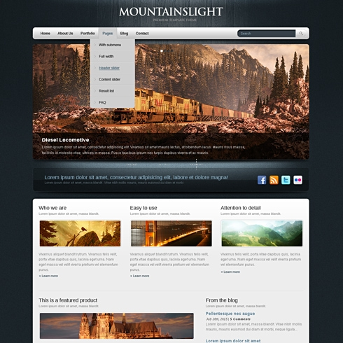 Template Image for BlueWood - HTML Template