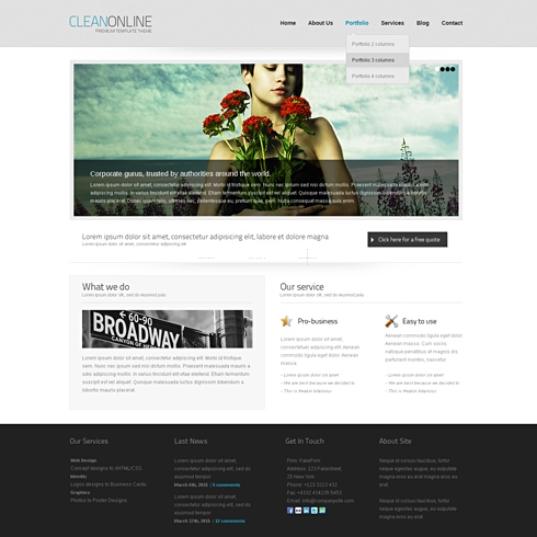 Template Image for CleanOnline - HTML Template