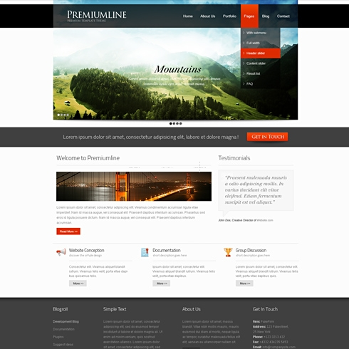 Template Image for FrameRate - HTML Template