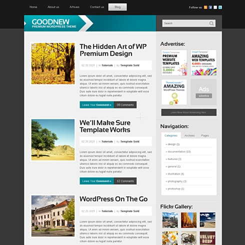 Template Image for FutureBlog - Website Template