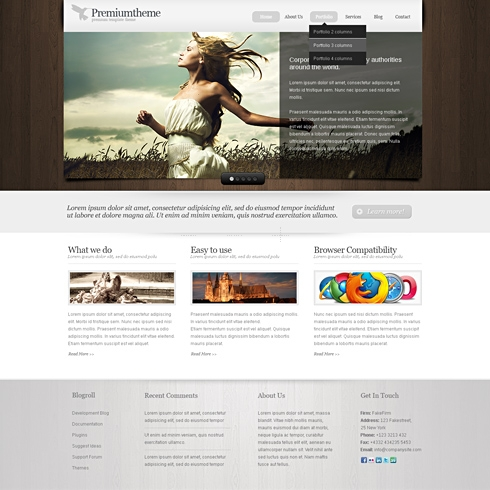 Template Image for HummingBird -  Website Template