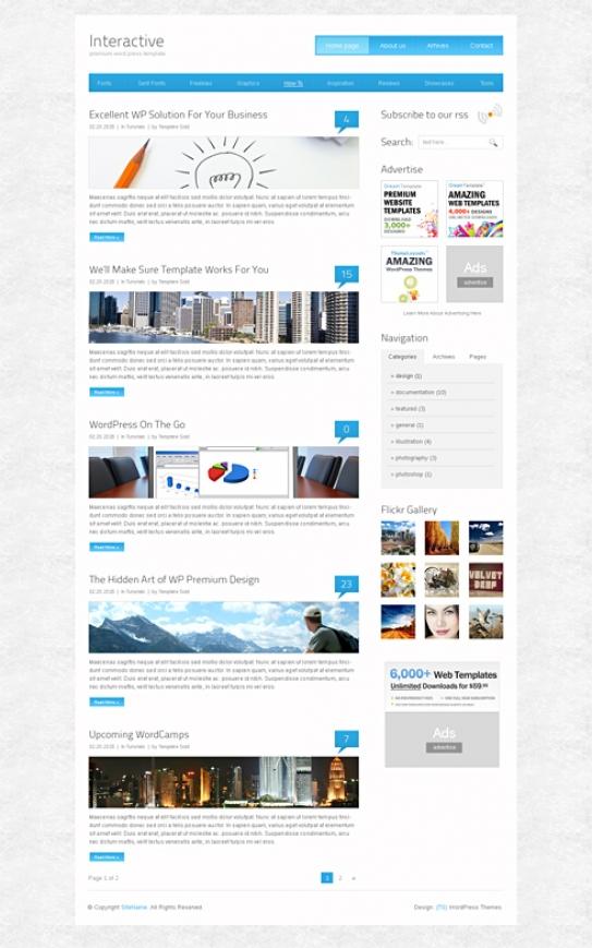 interactive web templates - Engne.euforic.co