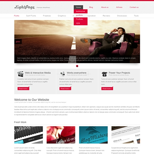 Template Image for LightPage - Website Template