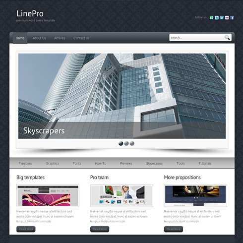 Template Image for LinePro - HTML Template