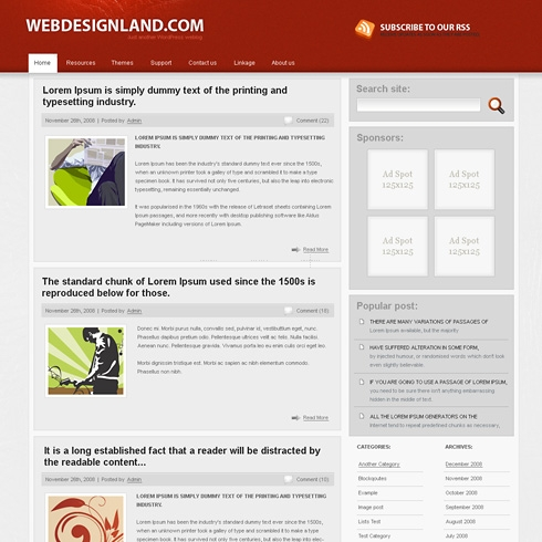 Template Image for Complexity - WordPress Template