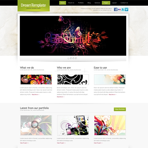 Template Image for PageLines - Website Template