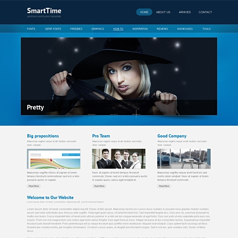 Template Image for SmartTime - Website Template