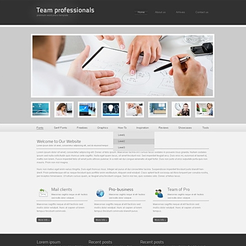 Template Image for TeamPro - Website Template