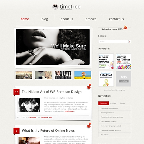 Template Image for TimeFree - CSS Template