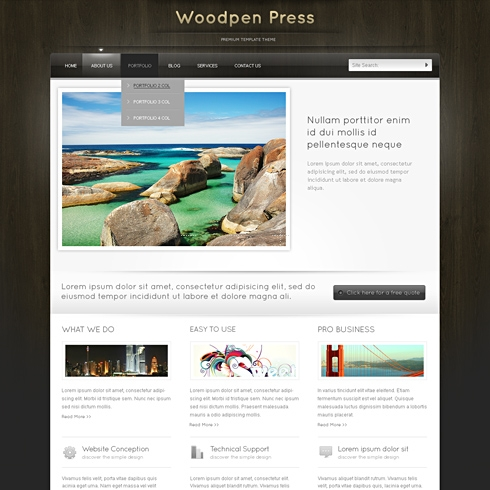 Template Image for WoodTop - Website Template