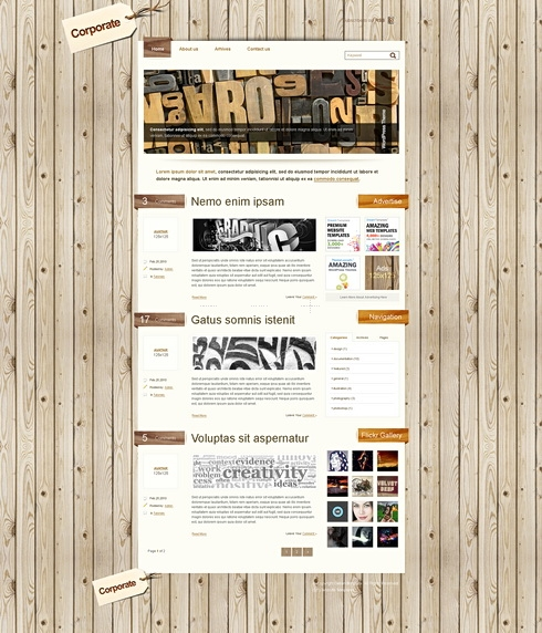 Template Image for WoodenHouse - CSS Template