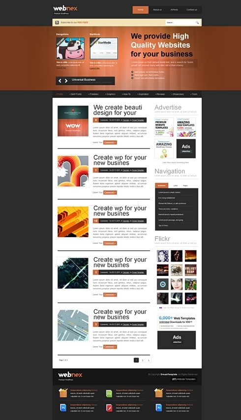 Template Image for Webnex - HTML Template