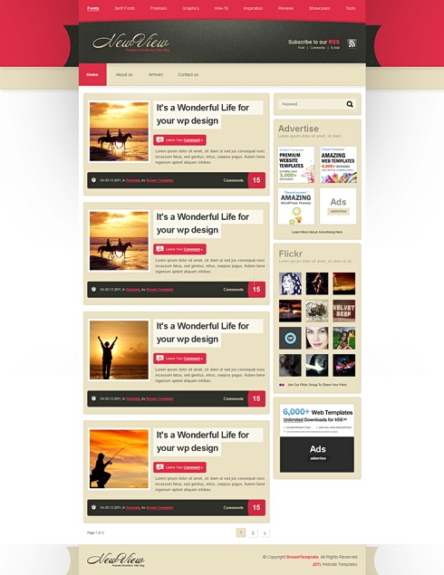 Template Image for NewView - Website Template