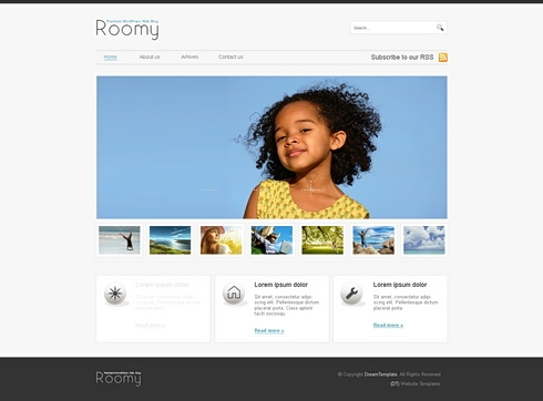Template Image for Roomy - HTML Template