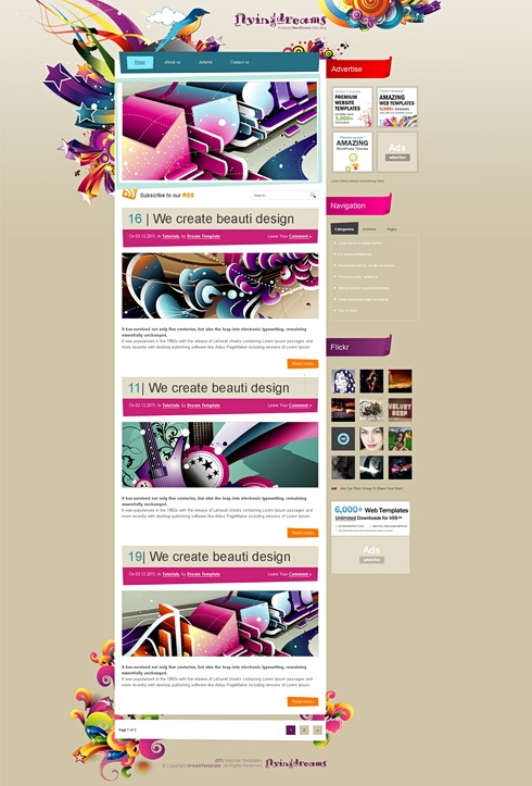 Template Image for FlyingDreams - HTML Template