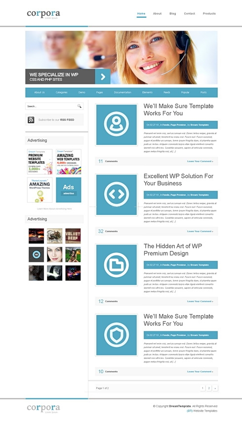 Template Image for Corpora - CSS Template