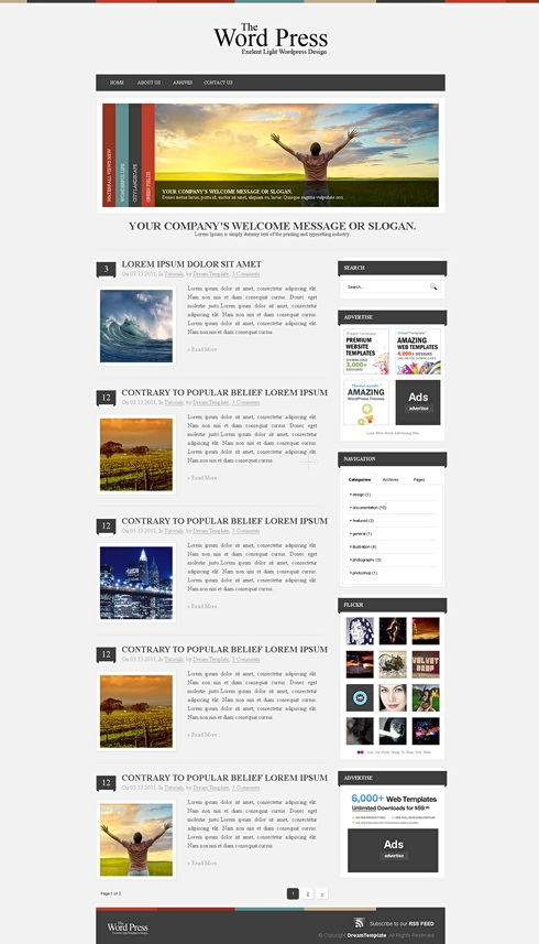 Template Image for ClassicPress - Website Template