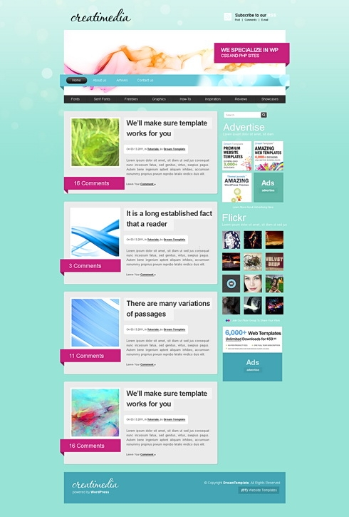 Template Image for BlueFusion - CSS Template
