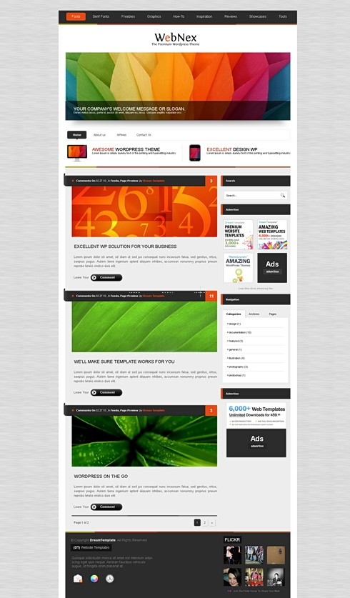 Template Image for AlumniPress - HTML Template