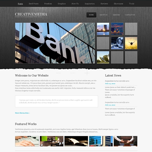 Template Image for CreativeMedia - HTML Template