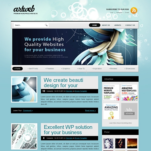 Template Image for Artweb - Website Template