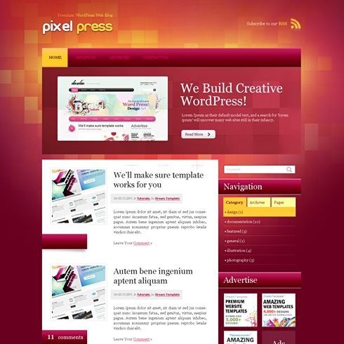 Template Image for PixelPress - Website Template