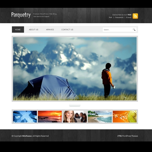 Template Image for Parquetry - HTML Template