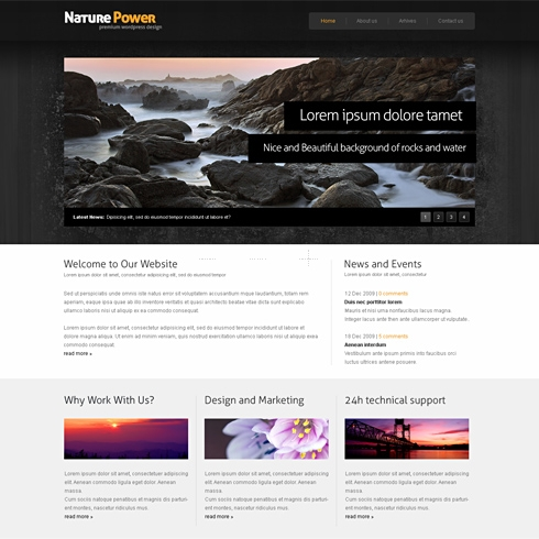 Template Image for NaturePower - HTML Template
