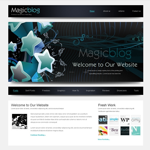 Template Image for MagicBlog - HTML Template