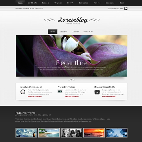 Template Image for LoremBlog  - HTML Template