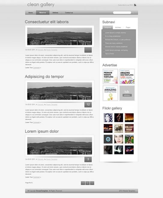 My Iweb photo gallery templates