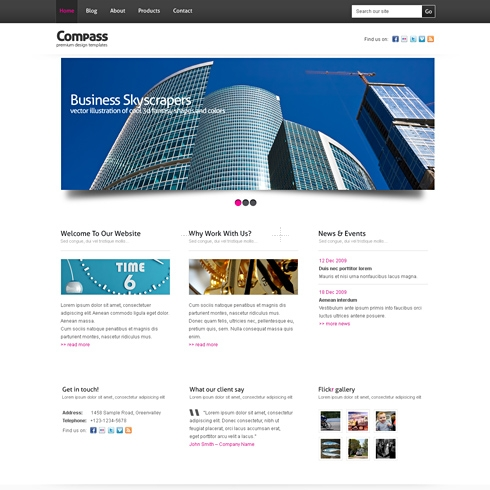 Template Image for Compass - Website Template