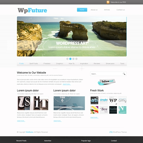 Template Image for FuturePress - HTML Template