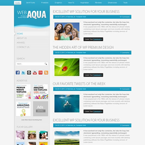 Template Image for Aqua - Website Template