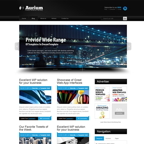 Template Image for Aurium - HTML Template