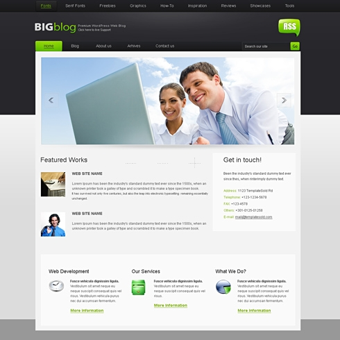 Template Image for BigBlog - Website Template