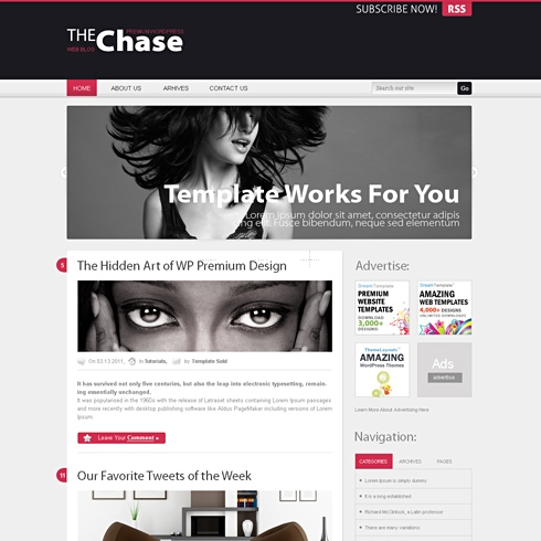 Template Image for Chase - HTML Template